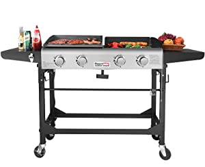 8ccf1aa9edc Amazon.com  Royal Gourmet Portable Propane Gas Grill and Griddle ...
