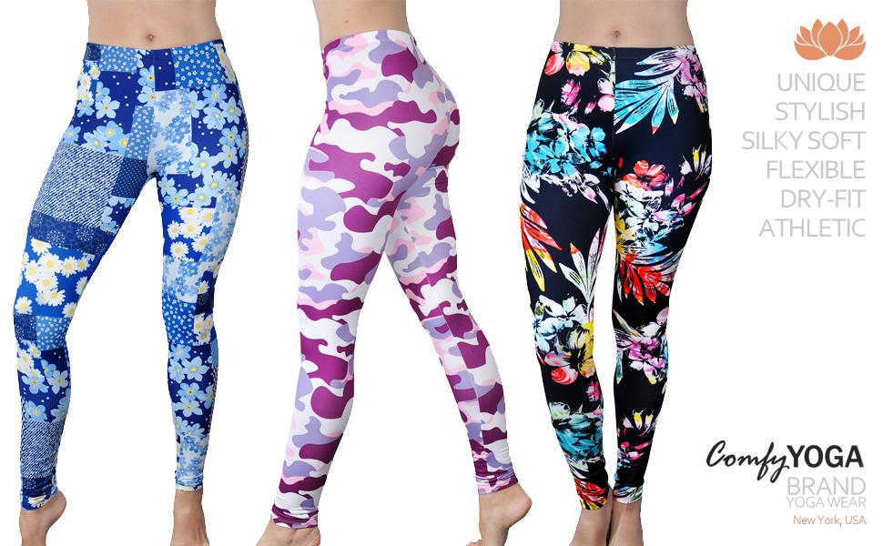76d82278f2 Amazon.com: Comfy Yoga Pants - Soft Milk Silk Workout Leggings for ...