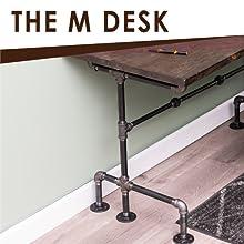 PIPE, DESK, TABLE, RUSTIC, INDUSTRIAL, DIY, LEGS, BLACK, BUILD