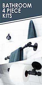 Electroplated, Bathroom, Bath, Towel bar, Towel hook, Bath robe, Toilet paper holder, toilet paper