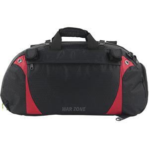 Amaro War Zone Lacrosse Equipment Bag, Lacrosse Gear Bag (Black with Royal)
