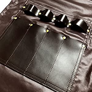 Under Ny Sky Barber Apron: Multi-Function Pockets, Loops and Slots