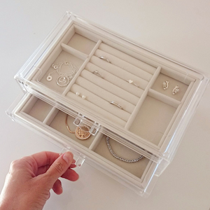 Jewelry box organizer storage holder stand