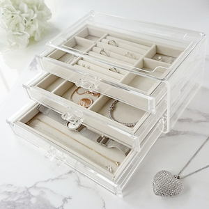 jewelry box organizer holder stand storage tray