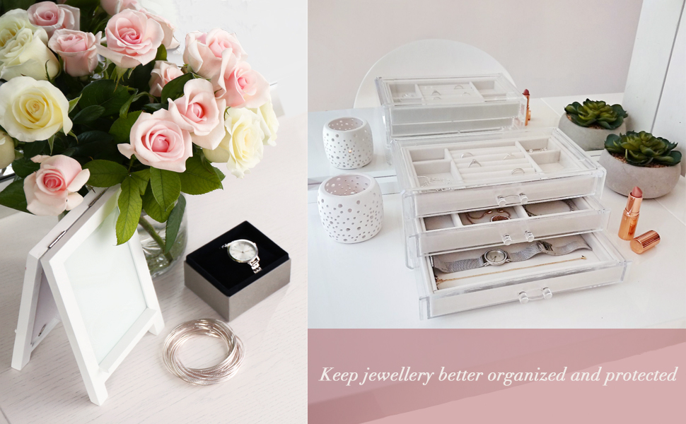 jewelry organizer storage box stand holder case tray
