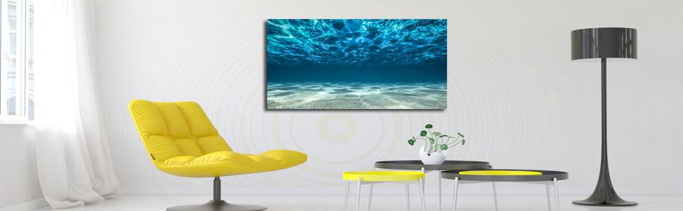 blue ocean wall art