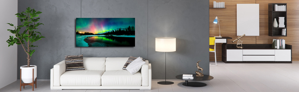 Northern Lights canvas painting