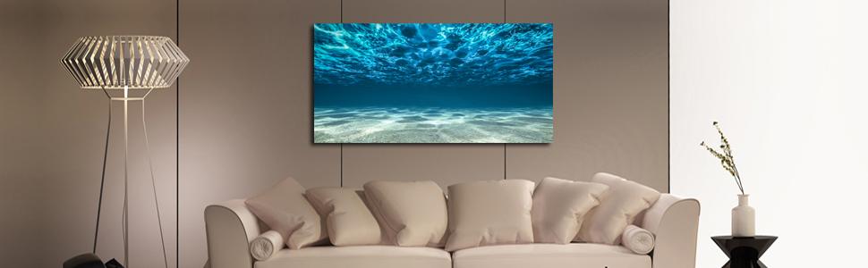 blue waves wall art