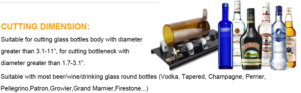 Genround G2 Glass Bottle Cutter Bundle Glass Cutter Cut Round Bottle from  Neck to Bottom for DIY Projects, Glass Cutter Tool with Oil Feed Glass