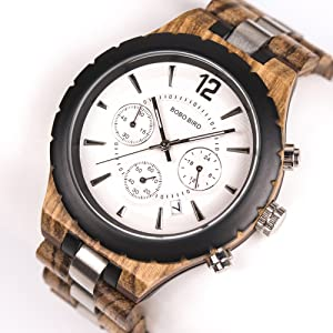 multifunctional wooden watch