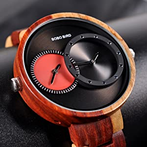 mens wooden watches big size