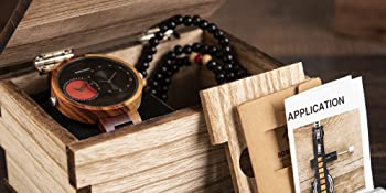 2 time zone wooden watches with wood box best gift for men and women