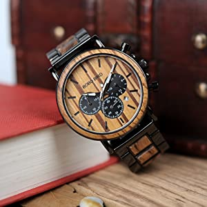 bobo bird wooden watch for husband gift
