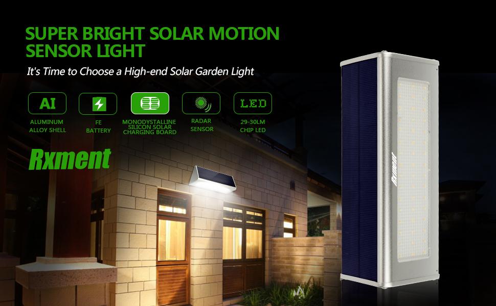 Solar Lights Outdoor Motion Sensor Garden Patio Super Bright Lighting Wireles
