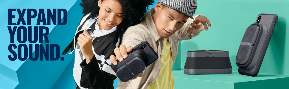 Expand Your Sound. Pow Mo Expandable Wireless Speaker.
