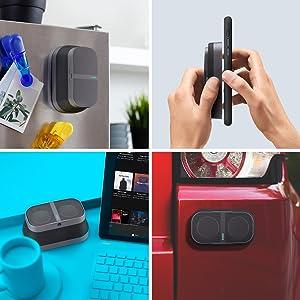 stick anywhere, magnetic, sticky, tabletop, car, fridge, click case, defy gravity
