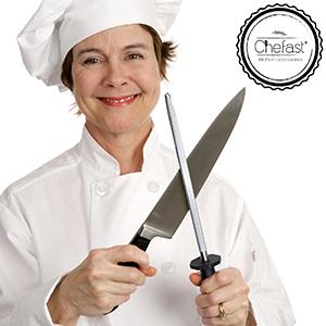 Amazon.com: chefast Acero para Afilar Cuchillo Afilado Kit ...