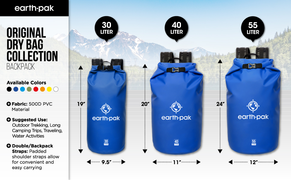 82c94b85bd 30 Liter   40 Liter   55 Liter Dry Bag Backpacks – Backpacks Built for More  Than the Basics
