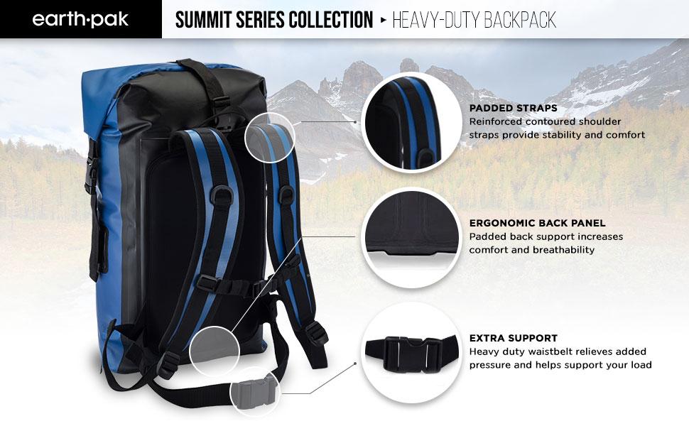 3b930c078ea9 Amazon.com   Earth Pak Waterproof Backpack  35L   55L Heavy Duty ...