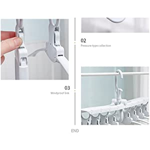 Folding Magic Clothes Hangers