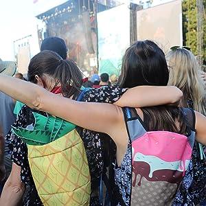 Music Festivals Rave Hydration Fashion Accessories Design Pineapple Ice Cream