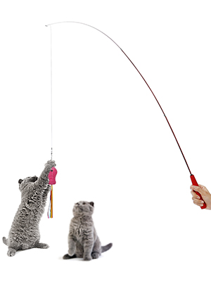 upsimples Cat Toys Including Cat Teaser Wand Interactive Feather Toy Fluffy Mouse Mylar Crinkle Balls Catnip Pillow for Kitten Kitty 14