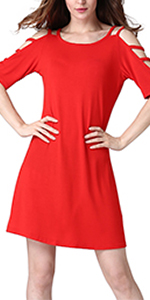 womens hollow out sleeve dress