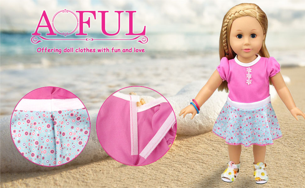 Amazon.com: AOFUL Baby Doll Dress Clothes, Custom Design Flower ...