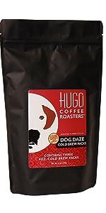 hugo coffee roasters dog daze cold brew coffee packs