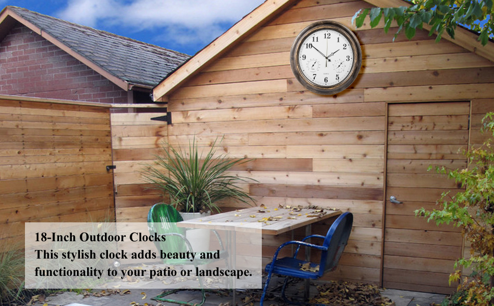 Exceptionnel Add A Touch Of Elegance To Your Patio, Garden, Or Landscape With This  Weather Resistant Clock. With An Attractive Copper Metal Frame, And Easy To  Read Large ...