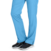 Close-up of straight leg with side vents on Barco Grey's Anatomy 4277 Women's Cargo Scrub Pant