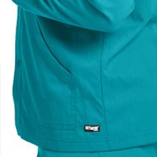 Kangaroo pockets shown on Grey's Anatomy 0406 Men's Raglan Warm Up Scrub Jacket