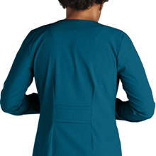 Fitted back close-up with partial belt on Barco Greys Anatomy Signature 2407 Womens Scrub Jacket