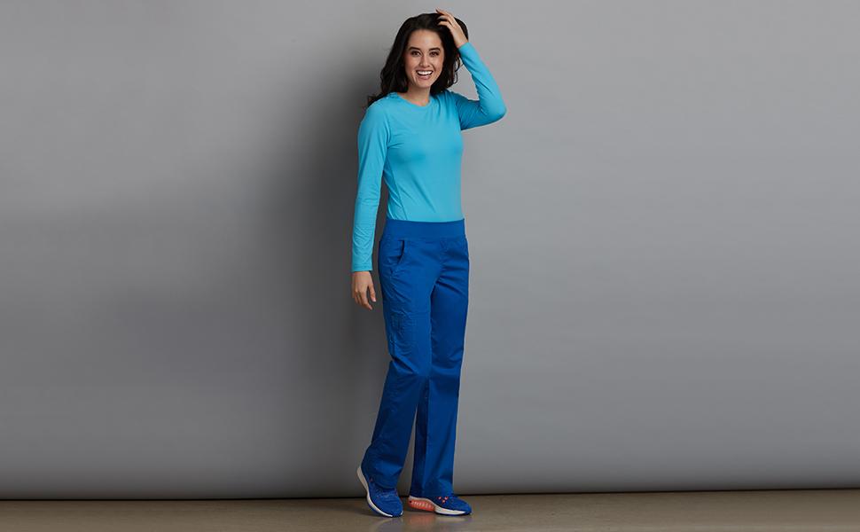 d3689f1edb Med Couture MC2 8752 Women's Scrub Pant Yoga Medical Healthcare Uniforms  Fashion