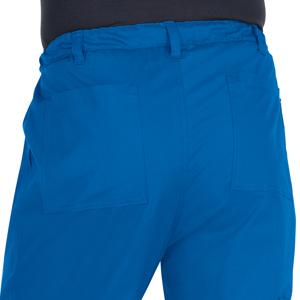close up of koi stretch 604 koi men's Ryan Scrub Pant featuring two back pockets