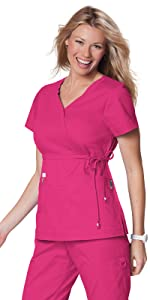 02fc13360d2 ... koi Classics 137 Women's Scrub Top Mock Wrap Medical Healthcare  Uniforms Fashion