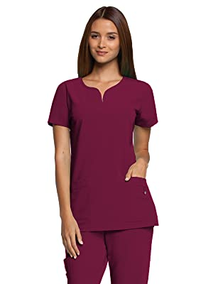 523d6957ba0 Barco Grey's Anatomy Signature 2121 Women's Scrub Top Notch Neck Medical  Healthcare Uniforms Fashion