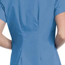 8ba9182014f Landau ScrubZone 70224 Women's Scrub Top Faux Wrap Medical Healthcare  Uniforms Fashion