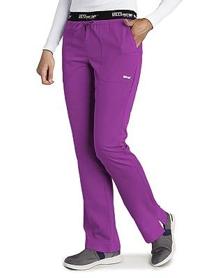 Product shot of model wearing Barco Grey's Anatomy Active 4275 Women's Cargo Scrub Pant