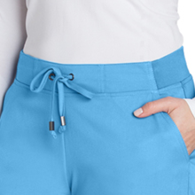 Close-up of adjustable drawstring with front ties on Barco Greys Anatomy 4277 Women Cargo Scrub Pant
