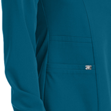 Banded sides close-up on Barco Grey's Anatomy Signature 2407 Women's Front Snap Scrub Jacket