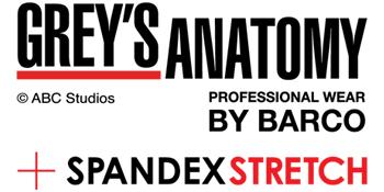 Barco Grey's Anatomy Spandex Stretch Scrubs Logo