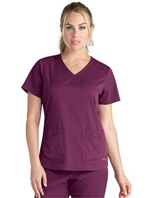 Barco Grey's Anatomy Spandex Stretch Women's V-neck Scrub Top
