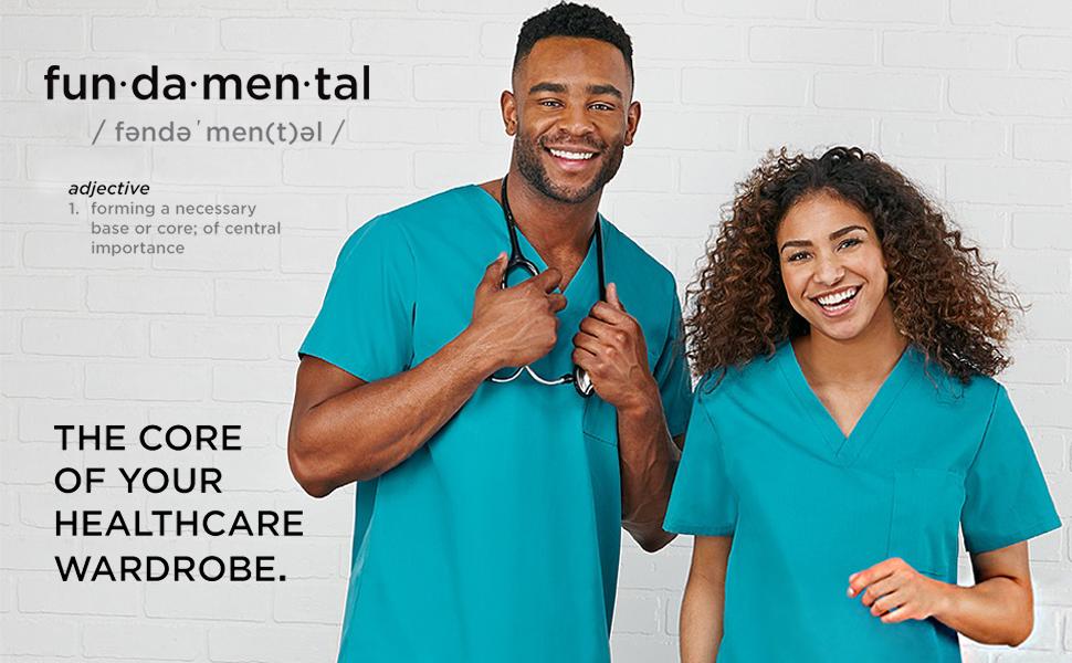 White Swan Fundamentals Scrubs Medical Healthcare Uniforms Fashion Polyester Cotton