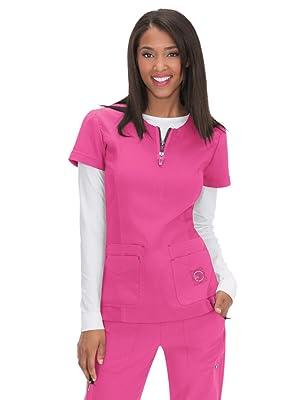 bb25562fc99 koi Lite 317 Women's Scrub Top Zip Front Medical Healthcare Uniforms Fashion