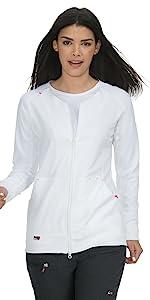 koi Lite 445 Women's Scrub Jacket Zip Front Medical Healthcare Uniforms Fashion