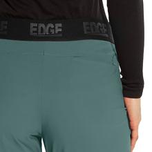 Back pocket shown on Barco Grey's Anatomy Edge GEP005 women's scrub pant with seamed leg