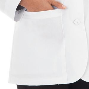 Lower outside iPad pockets shown on Meta 738 Women's 28quot; iPad Consultation Coat