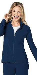 Landau Urbane Quick Cool 9876 Women's Scrub Jacket Zip Front Medical Healthcare Uniforms Fashion