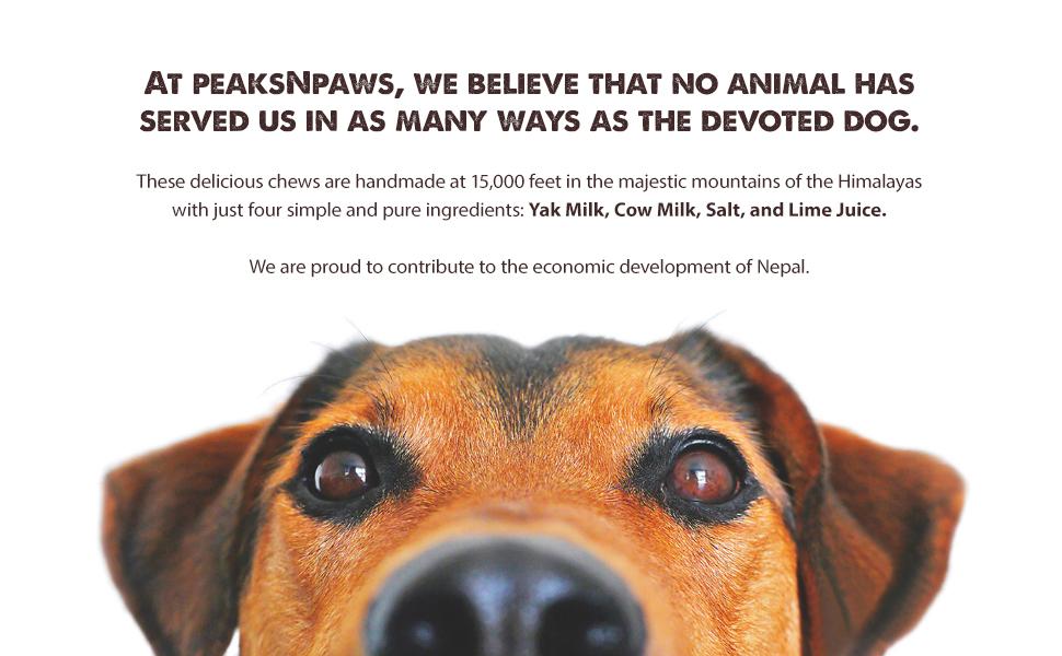 peaksNpaws yak milk dog chews himalayas all natural yak milk cow milk lime juice salt